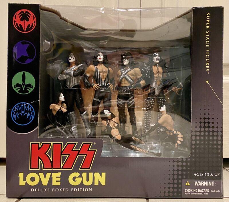 KISS Love Gun Deluxe Boxed Edition Set of 4 Figures 2004 McFarlane Toys NIB