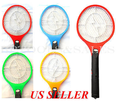 Cordless Rechargeable Bug Zapper Mosquito Insect Electric Fly Swatter Racket Bat - Electric Fly Swatter