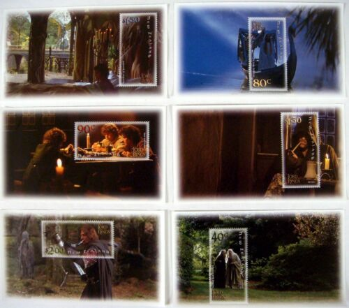 NEW ZEALAND LORD OF THE RINGS FELLOWSHIP OF RING STAMPS SOUVENIR SHEETS 2001 MNH