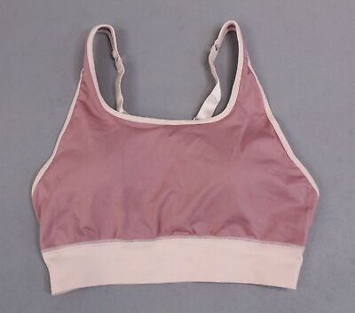 Fabletics Women's Eliza Seamless Wire-Free Sports Bra CD4 Pink Large NWT