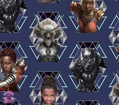 Pre Order Marvel Black Panther Wakanda Warriors Cotton Fabric July Shipment
