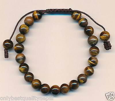 Armband Tigeraugen Perlenband Herrenschmuck Schützer Knoten Armschmuck Nepal 8c
