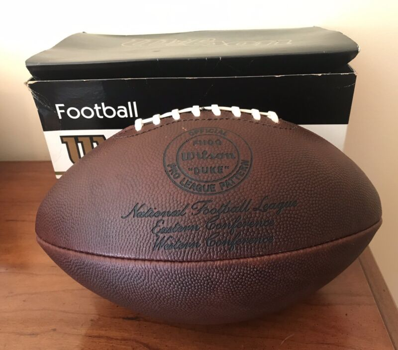 Vintage Wilson Duke football  F1100 VERY RARE NFL Official Pro League! With Box