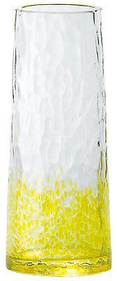 NEW Tsugaru Vidro Mini Glass Flower Vase Yellow Handmade F-49045 F/S from Japan