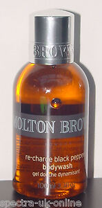Molton Brown RE-CHARGE BLACK PEPPER BODYWASH  100ml body wash, rrp £10