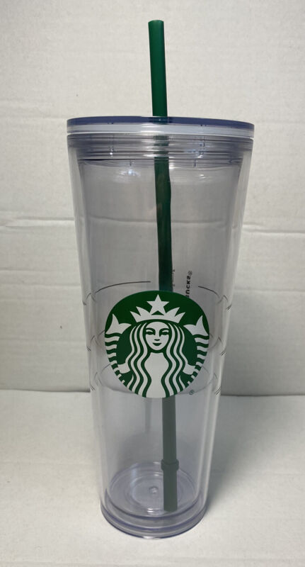 NEW Starbucks Venti Clear Double Wall Acrylic Cold Cup 24oz Tumbler