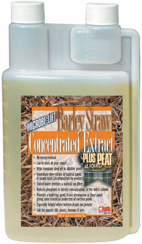 Microbe Lift 32-Ounce Pond Barley Straw Concentrate Plus Peat Extract...