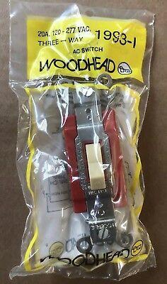 New Woodhead 1993-i Ivory Switch 20a 120277v 3-way Box Of 10