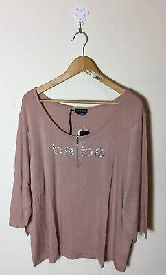 Plus Size Bebe (NWT bebe Top Blouse Pink Crystals Plus Size 3X)