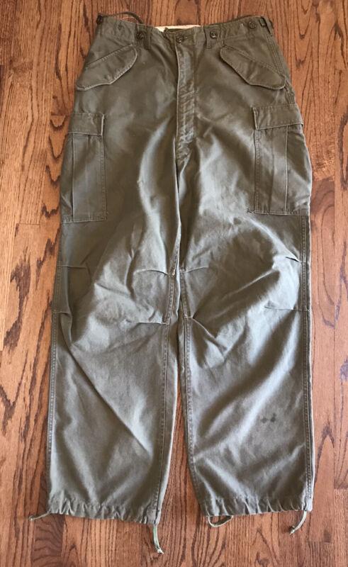 Vintage USGI M1951 Military Shell Field Trousers Medium Long