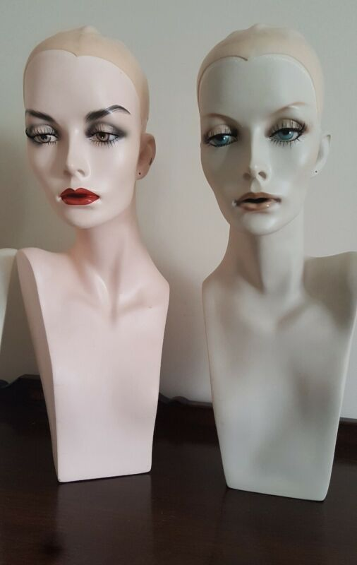 STUNNING VINTAGE FRENCH WIG MANNEQUIN ONE HEAD INCREDIBLE