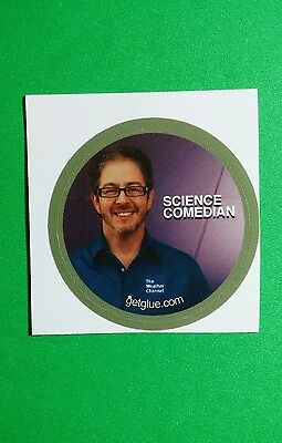 Science Comedian Brian Malow Weather Channel Tv Sm 1 5  Get Glue Getglue Sticker