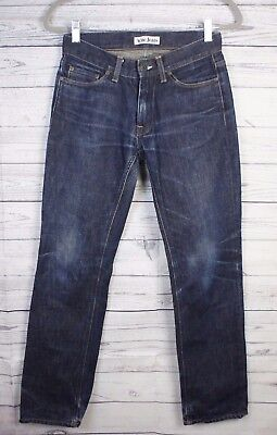 ACNE Men's Straight Leg Jeans Sz 28/32 Mic Rigid Dark Wash