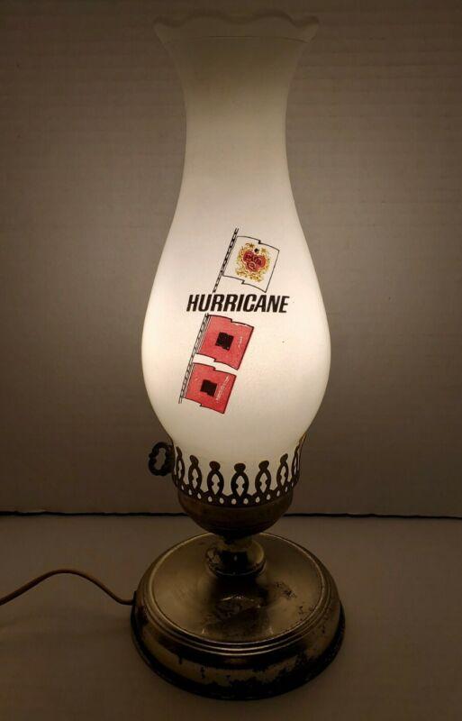Rare Vintage Don Q Rum Hurricane Lamp Tested Works! Advertising Hurricane Flags