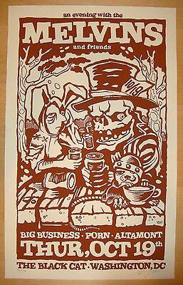 2006 The Melvins w/ Big Business - DC Silkscreen Concert Poster s/n by Ken Adams