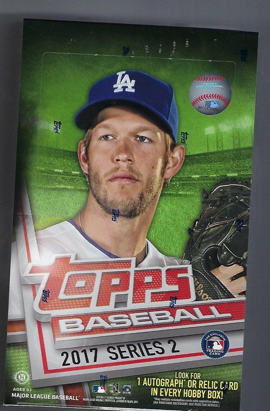 Купить 2017 Topps Series 2 Baseball FACTORY SEALED Hobby Box