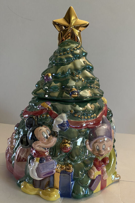 Mickey Mouse Disney Christmas Tree Cookie Jar Special Limited Edition