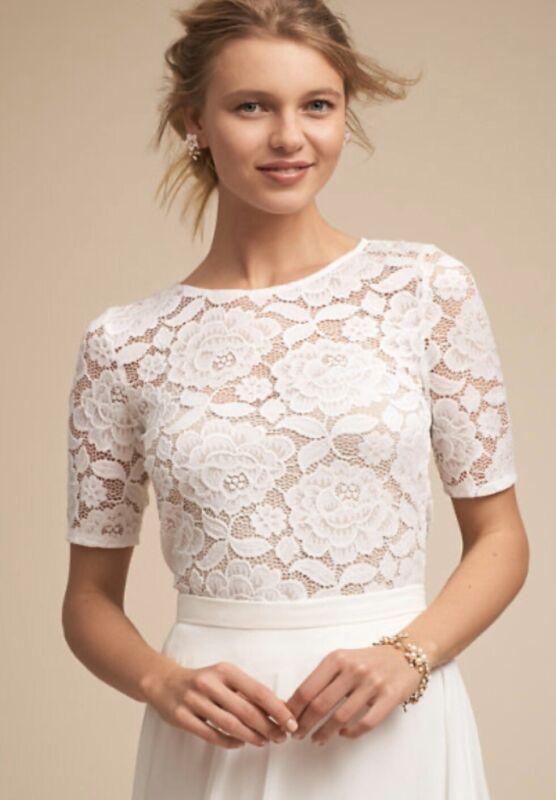 NEW BHLDN White Lace Jive Top Size Medium- Wedding Topper
