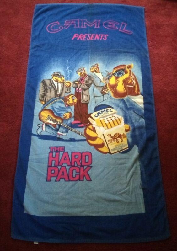 Vintage Joe Camel Beach Towel Hard Pack Advertising