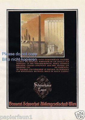 Brauerei Schwechat Wien XL Reklame von 1944 !!! Brewery ad WK WW 2 Bier beer