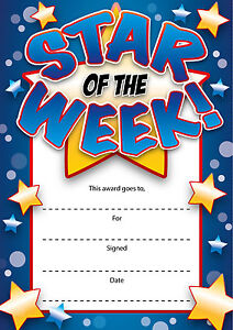 Pack of 16 A6 Motivational Teachers Reward Certificate Home Notes Card Children