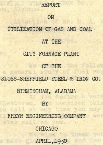 1930 sloss sheffield steel iron company birmingham Alabama report @ natural gas