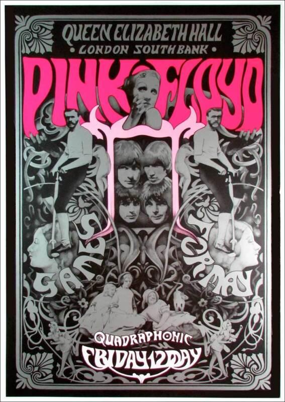 Pink Floyd The Ultimate Fan Poster Silver Ink w Pink Steve Harradine 2002