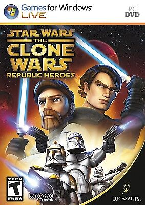 Computer Games - Star Wars The Clone Wars Republic Heroes PC Games Windows 10 8 7 XP Computer