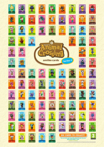 New Animal Crossing amiibo Cards Series 4 - Pick Your Character