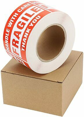 1roll 500 Shipping Labels Fragile Stickers 3x5 Handle With Care Warning Caution