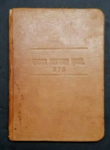 © 1895 Keuffel & Esser Co. CROSS SECTION BOOK 375 Blank Surveyor Grid ☆ LEATHER