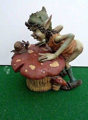 PIXIE ELF FIGURE WITH TOADSTOOL