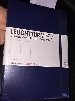Leuchtturm1917 342925 Notebook Journal 249 Pages Dotted Navy W Pen Loop New