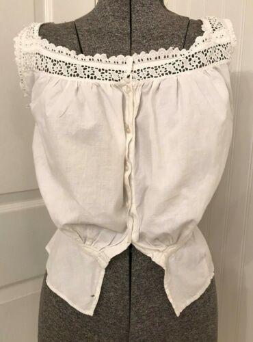 Vintage Victorian white cotton corset cover B36 W22