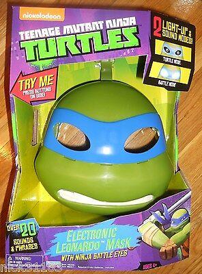 TEENAGE MUTANT NINJA TURTLES ELECTRONIC LEONARDO MASK NINJA BATTLE EYES TALKING - Ninja Turtle Eye Mask