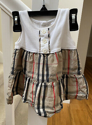 Burberry Authentic Baby Girl Dress 6 Months