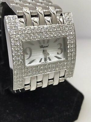 CHOPARD HAUTE HORLOGERIE WHITE GOLD & DIAMOND WOMENS WATCH NEW! $51,000 RETAIL!!