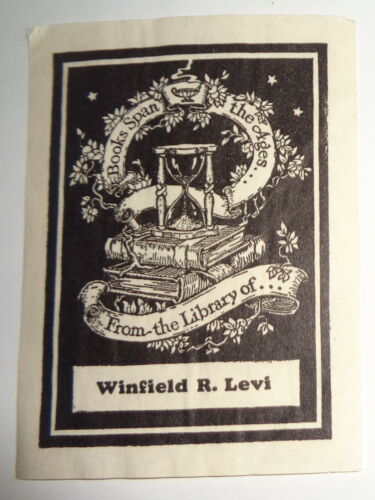 Winfield R. Levi Ex Libris Bookplate