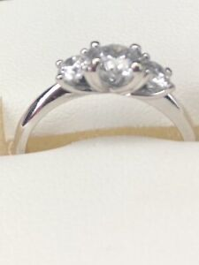 Engagement ring 1.0ct and wedding band 0.15ct