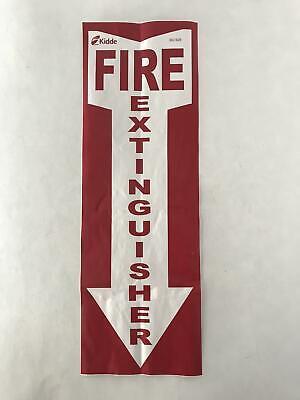 1 5x14 Kidde Fire Extinguisher Sticker Decal Inspection Smoke Alarm Emergency