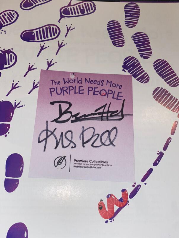 Kristen Bell Benjamin Hart Signed Book World Needs More Purple People COA Frozen