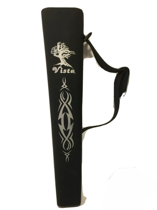 Vista Sharkey Side Quiver - Gray with silver lettering adjustable strap