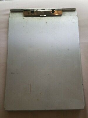 Vintage Dual Compartment Police Metal Storage Clipboard Saunders