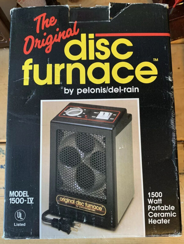 ORIGINAL DISC FURNACE by Pelonis/Del-Rain From 1992 In Original Box (Tested)