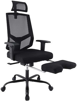 Ergonomic Mesh Office Chair With Adjustable Armrestheadrest And Footrest