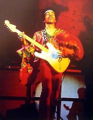 JIMI HENDRIX headband clipping 1960s live psychedelic color photo Fender guitar Jimi Hendrix Headband