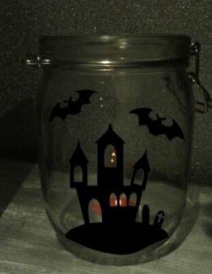 Aufkleber Set - Halloween Sticker für Mason Gläser / Flaschen - Dekoration ()