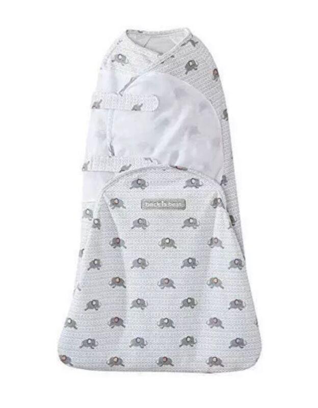 Halo Swaddle Sure Sleeping Sack Size Newborn 6-12 lbs Elephants