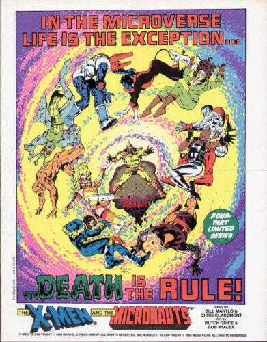 1983 X-MEN AND MICRONAUTS ORIGINAL PROMO POSTER MARVEL COMICS WOLVERINE STORM