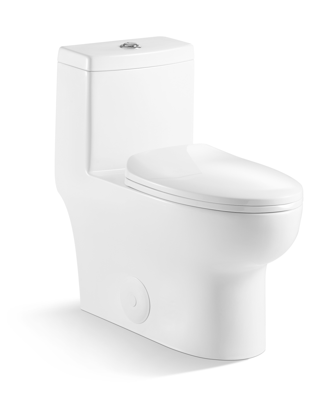 Soft Close One Piece Modern White Ceramic Toilet Binli with